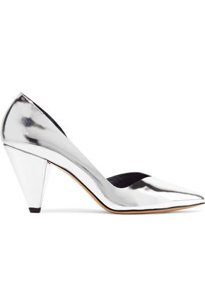 ISABEL MARANT ÉTOILE Palma metallic patent-leather pumps