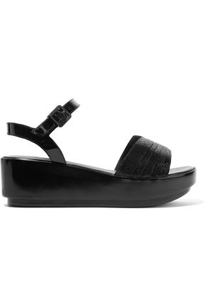 ROBERT CLERGERIE Pandor textured leather platform sandals