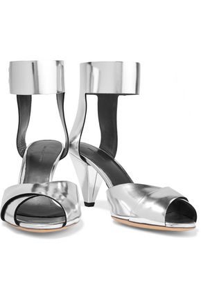 ISABEL MARANT ÉTOILE Meegan metallic patent-leather sandals