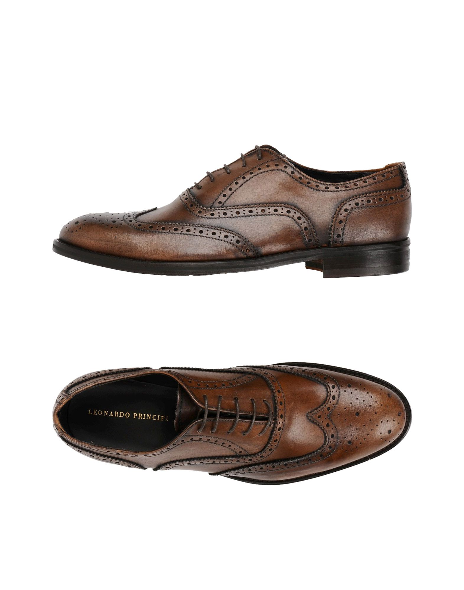 LEONARDO PRINCIPI Обувь на шнурках цены онлайн