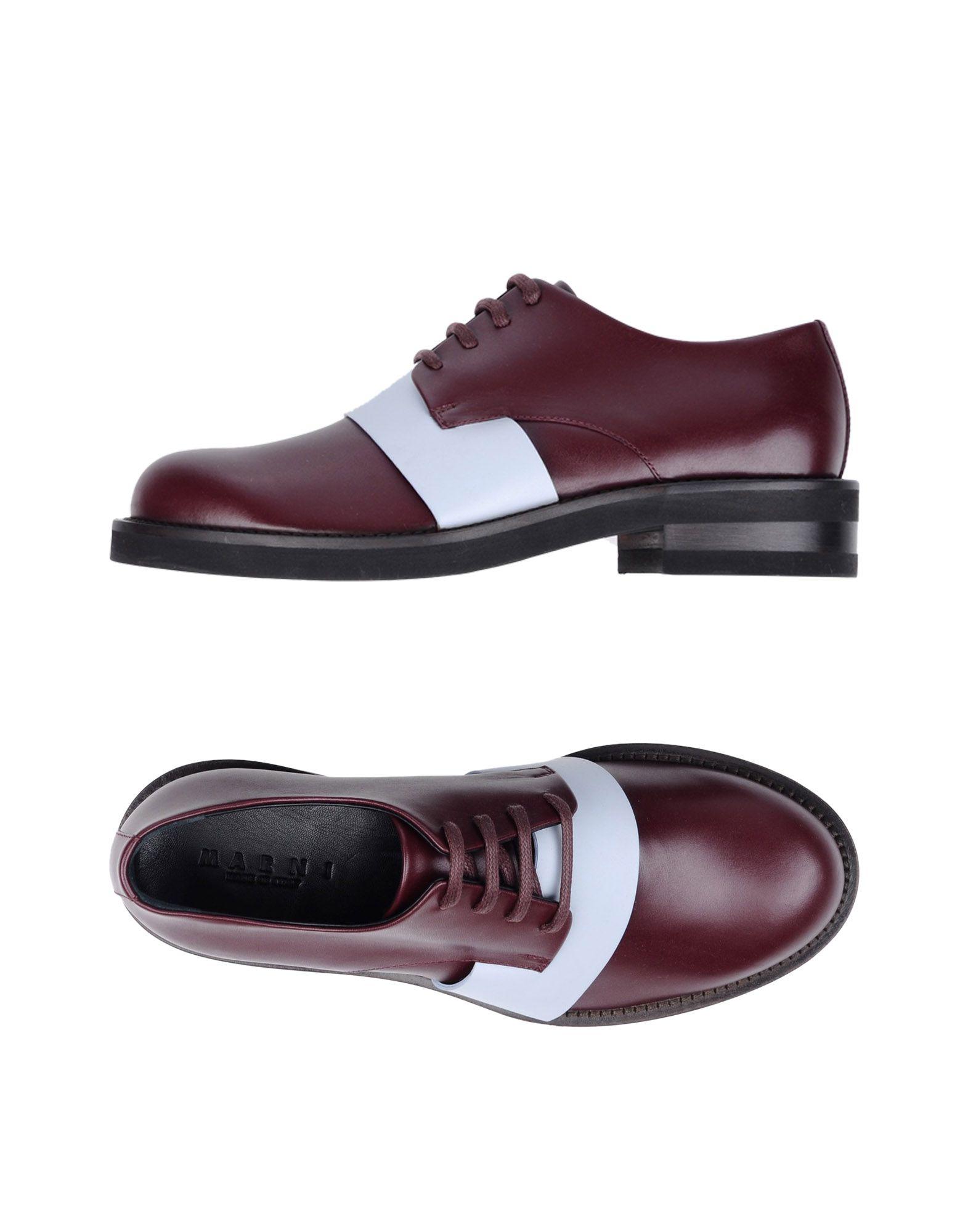 цена MARNI Обувь на шнурках онлайн в 2017 году