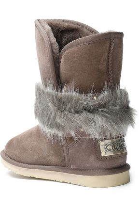 AUSTRALIA LUXE COLLECTIVE Hatchet faux fur-trimmed buckled shearling boots