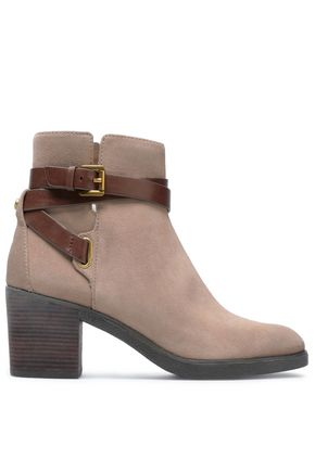 MICHAEL MICHAEL KORS Buckled suede ankle boots