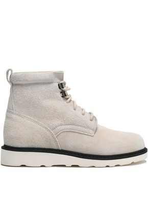 HELMUT LANG Lace-up suede ankle boots