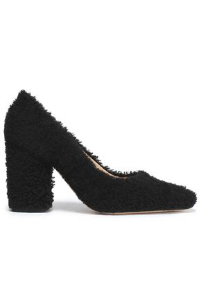 HELMUT LANG Faux shearling pumps