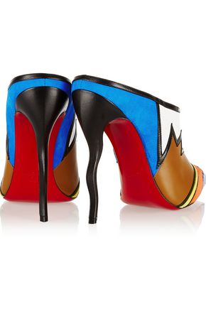 CHRISTIAN LOUBOUTIN Vagachina 120 leather and suede mules