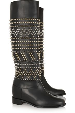 CHRISTIAN LOUBOUTIN Rom Chic 60 spiked leather knee boots