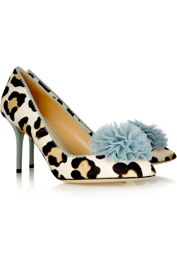 Desirée leopard-print calf hair pumps | CHARLOTTE OLYMPIA | Sale up to 70%  off | THE OUTNET