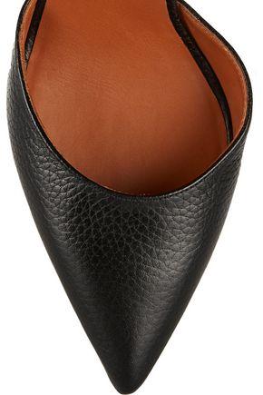 VALENTINO GARAVANI Fringed textured-leather and PVC pumps