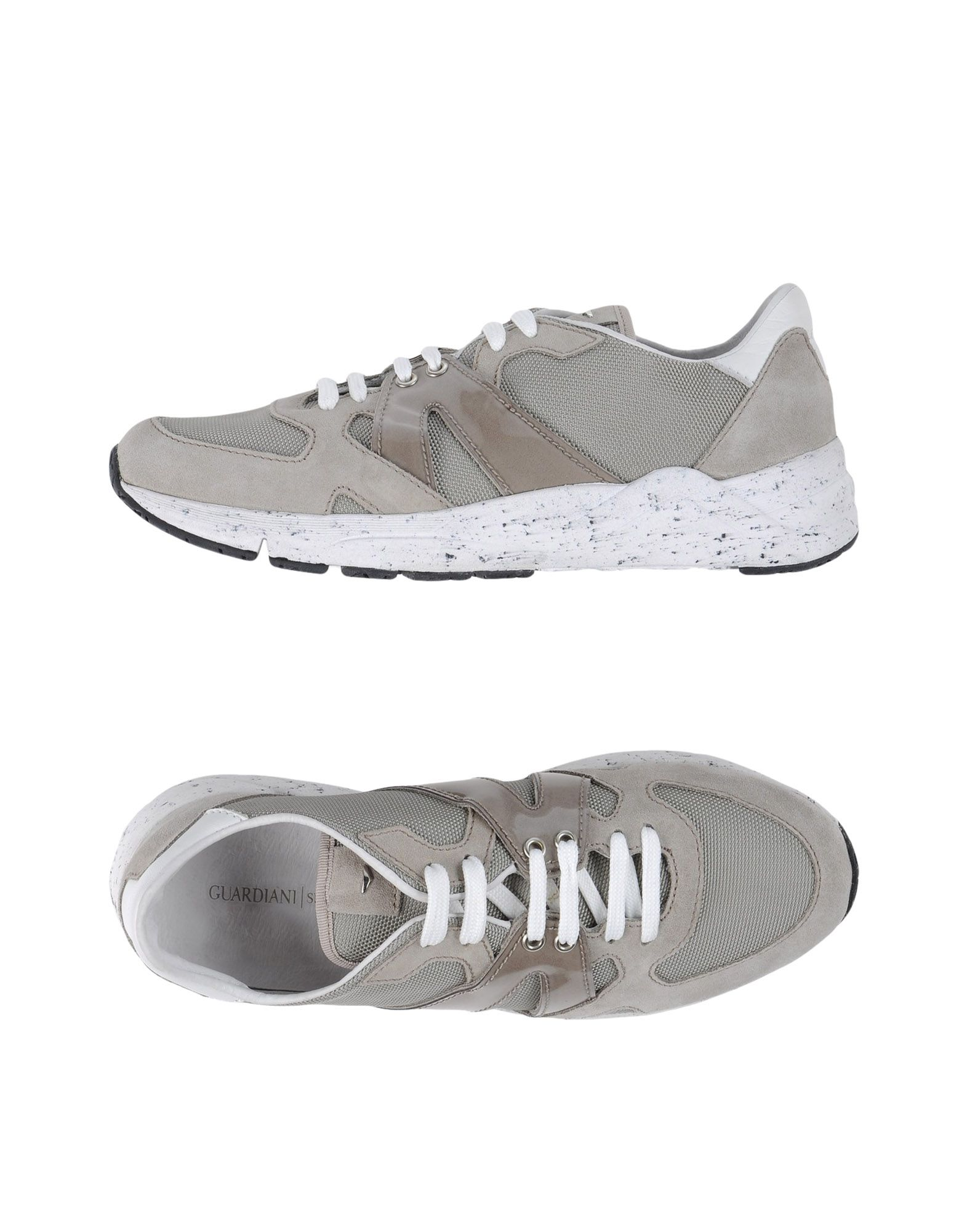 GUARDIANI SPORT Herren Low Sneakers & Tennisschuhe Farbe Grau Größe 9 - broschei