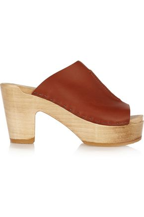 No. 6 STORE Leather clogs