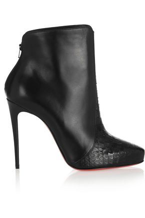 Gaetanina 85 Python And Leather Ankle Boots Christian Louboutin