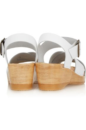 No. 6 STORE Criss Cross textured-leather wedge sandals
