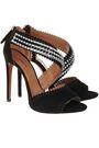 ALAÏA Embellished laser-cut suede sandals