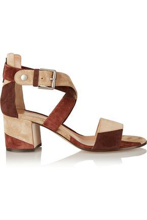 GIANVITO ROSSI Patchwork suede sandals