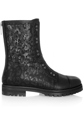 JIMMY CHOO Hatcher perforated leather boots