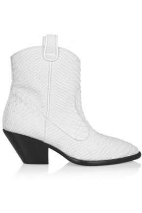 GIUSEPPE ZANOTTI DESIGN Snake-effect leather ankle boots