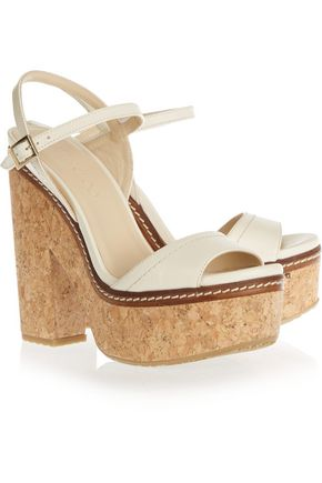 JIMMY CHOO LONDON Naylor leather and cork sandals