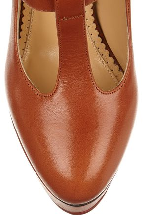 CHARLOTTE OLYMPIA Ryder leather Mary Jane platform pumps