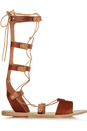 ANCIENT GREEK SANDALS Thebes lace-up leather sandals