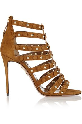 AQUAZZURA Very Wild studded suede sandals