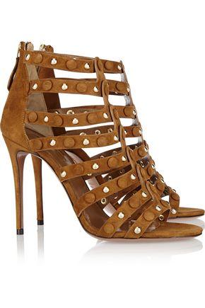 AQUAZZURA Very Wild studded suede sandals