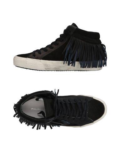 Фото - Высокие кеды и кроссовки от PHILIPPE MODEL черного цвета