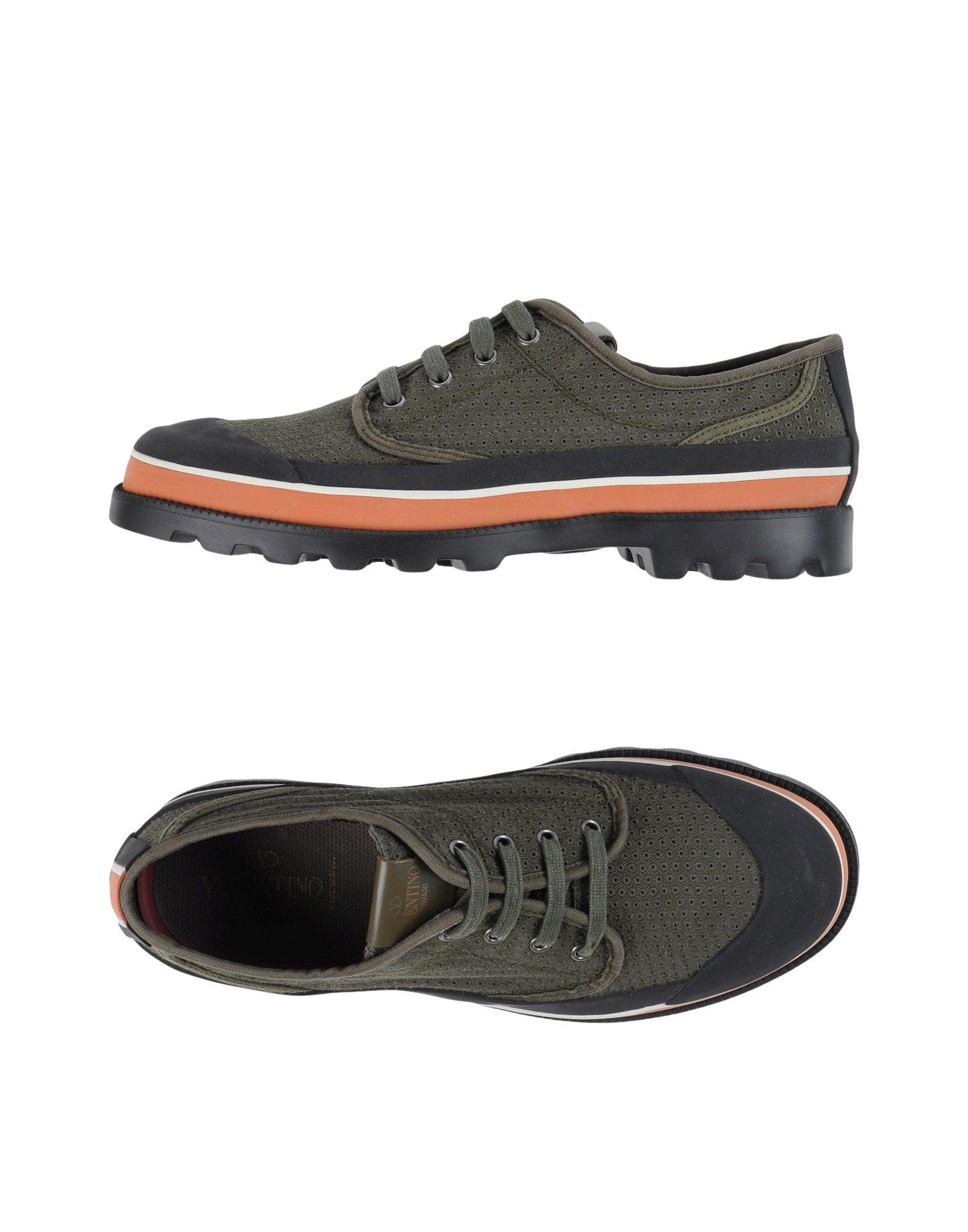 VALENTINO GARAVANI Herren Low Sneakers & Tennisschuhe Farbe Militärgrün Größe 10 - broschei