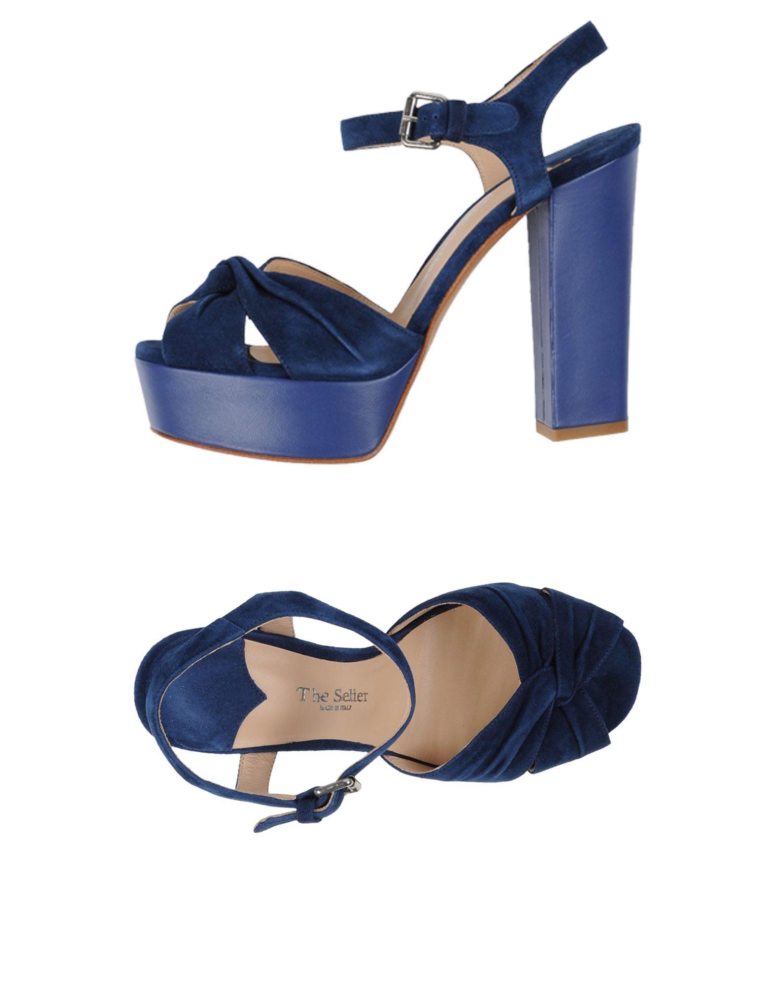 THE SELLER Damen Sandale Farbe Dunkelblau Größe 8 - broschei