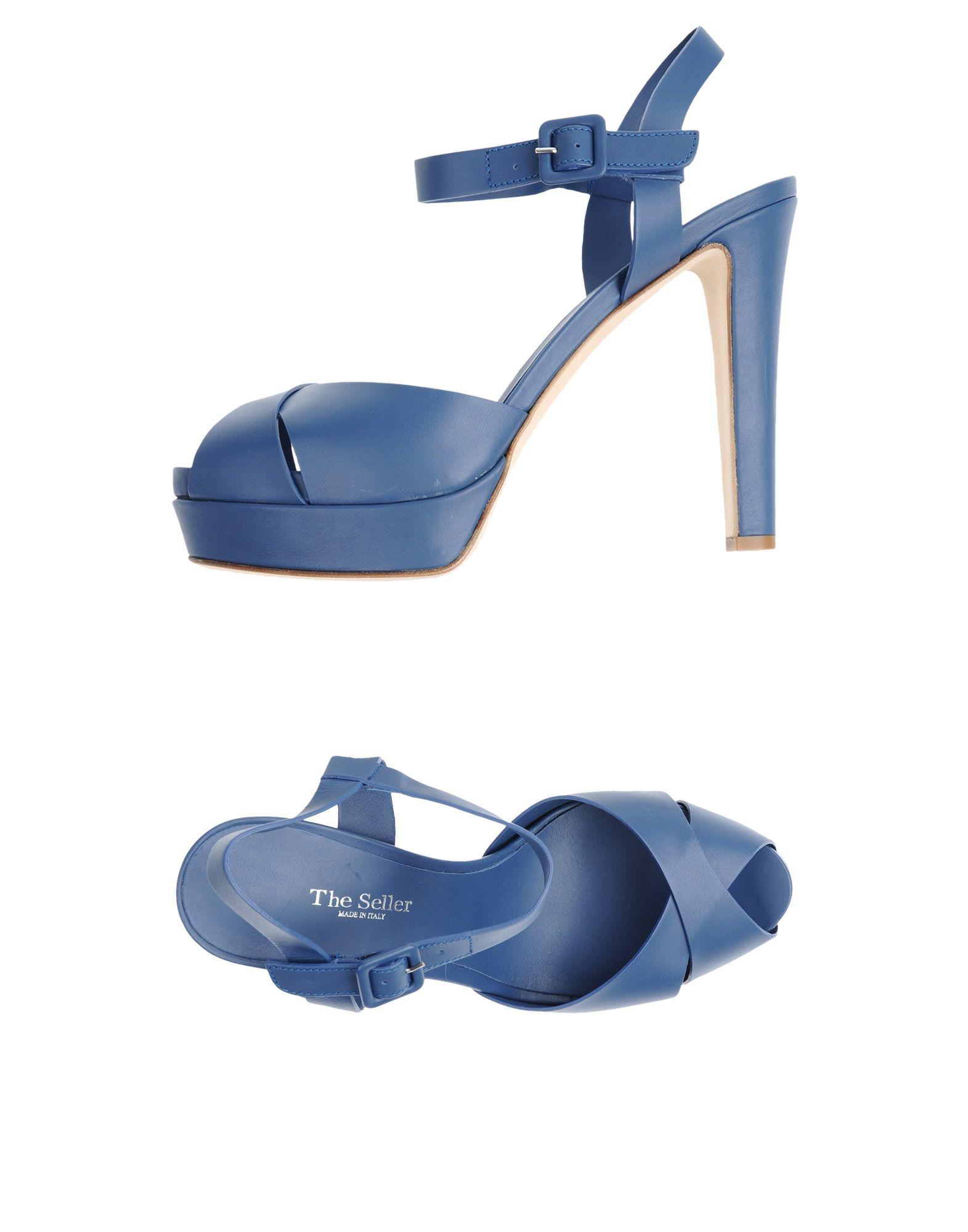 THE SELLER Damen Sandale Farbe Blau Größe 13 jetztbilligerkaufen
