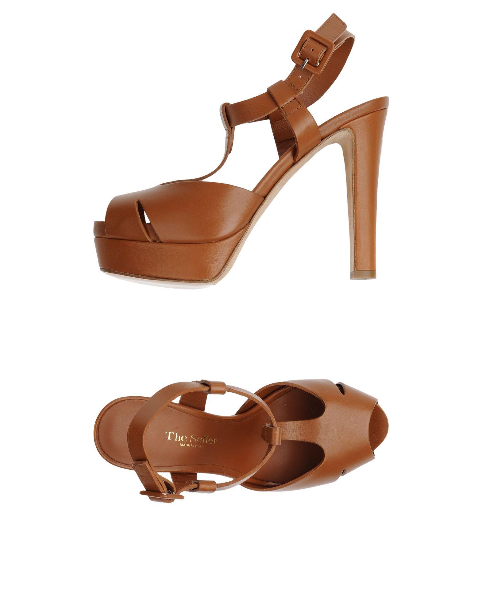 THE SELLER Damen Sandale Farbe Lederfarben Größe 5 jetztbilligerkaufen