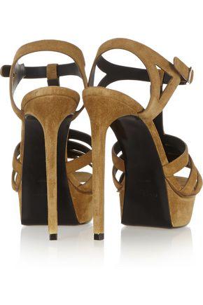 SAINT LAURENT Bianca suede sandals