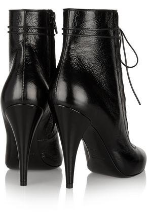 SAINT LAURENT Fetish textured-leather ankle boots