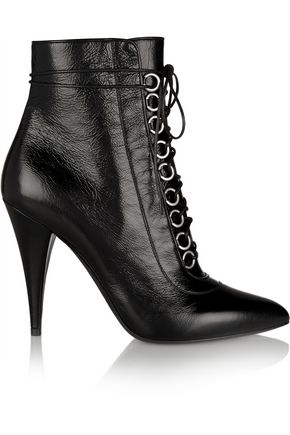 SAINT LAURENT Fetish textured-leather ankle boots