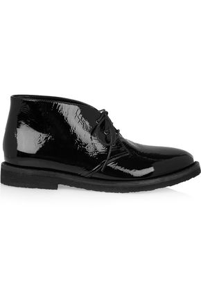 ALAÏA Patent-leather desert boots