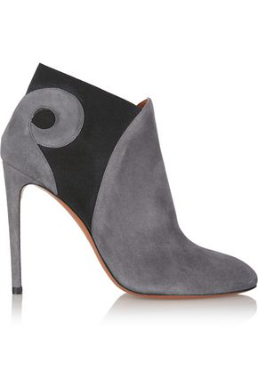 ALAÏA Two-tone suede ankle boots