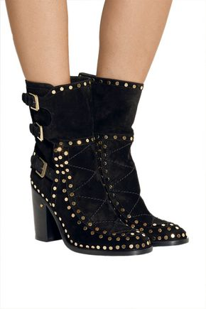 LAURENCE DACADE Gehry studded suede ankle boots