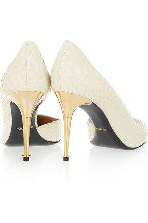 TOM FORD D'Orsay python pumps