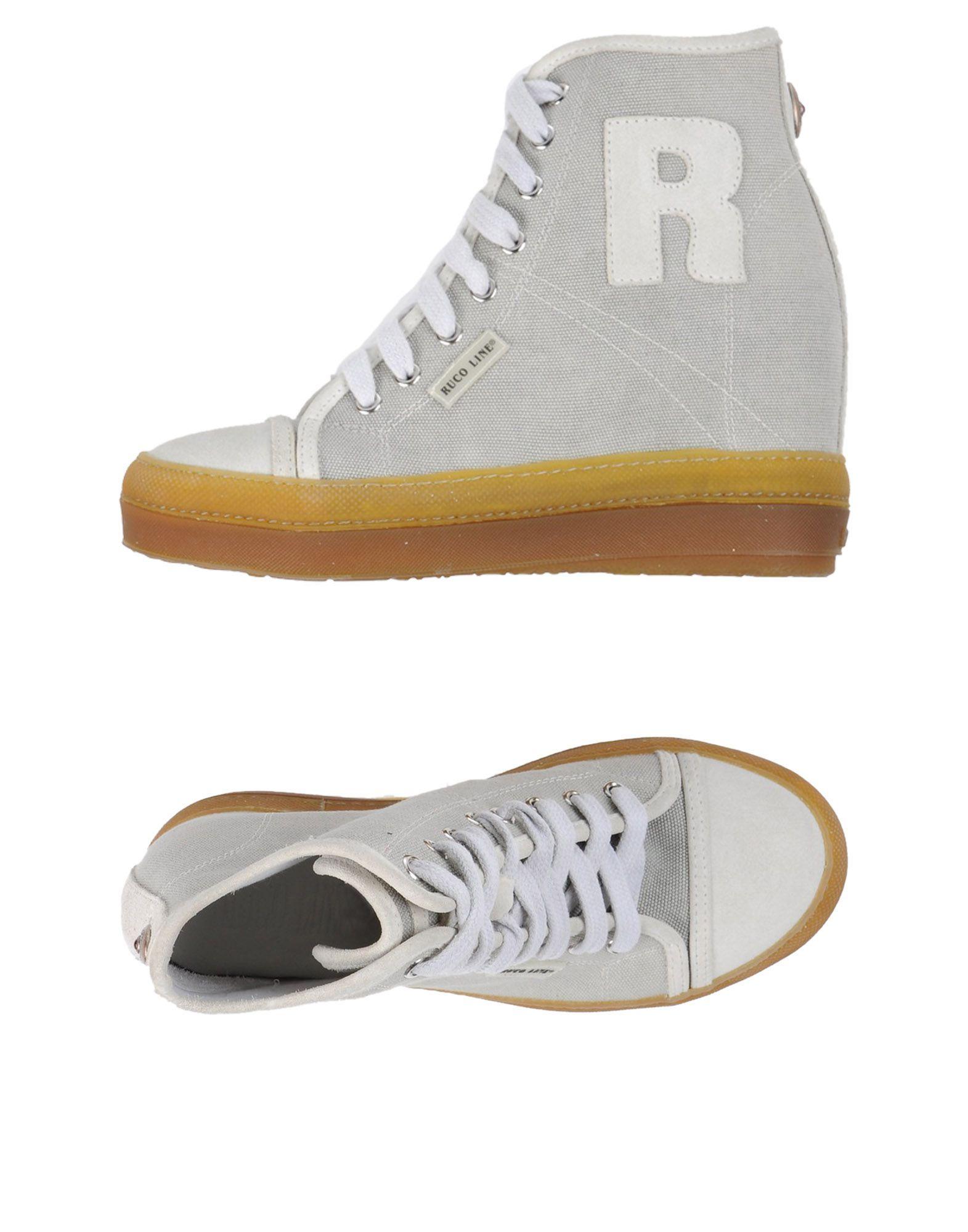 RUCO LINE Damen High Sneakers & Tennisschuhe Farbe Hellgrau Größe 9 jetztbilligerkaufen