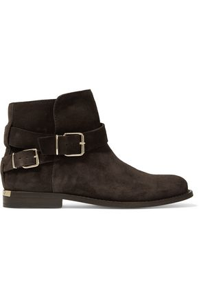 BURBERRY London suede ankle boots