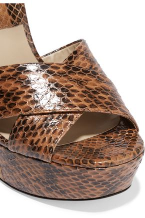 MICHAEL KORS COLLECTION Addy elaphe platform sandals