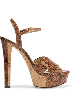 MICHAEL KORS COLLECTION Addy elaphe platform sandals