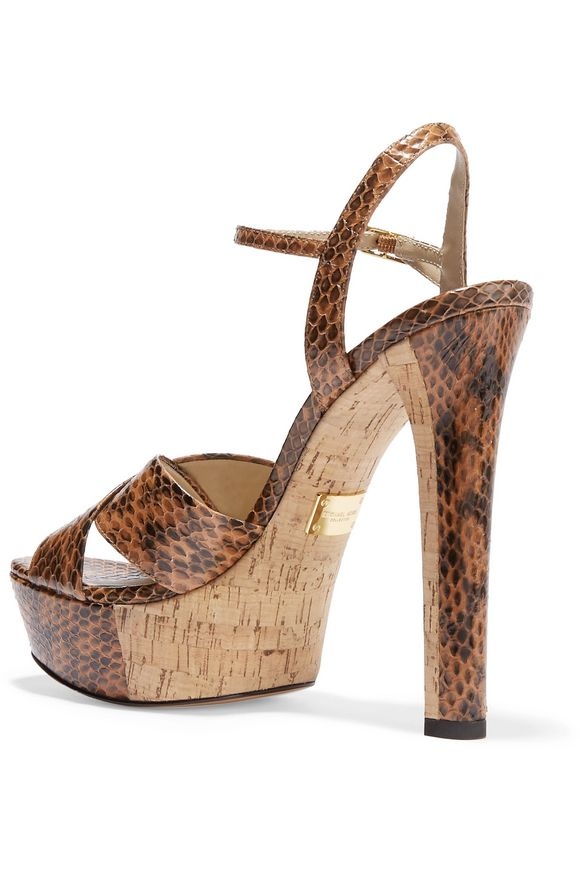 Addy elaphe platform sandals | MICHAEL KORS COLLECTION | Sale up to 70% off  | THE OUTNET