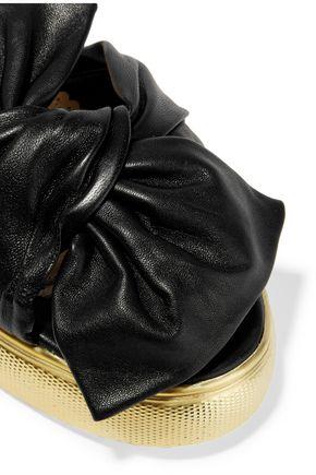 CHARLOTTE OLYMPIA Poolside textured-leather slides