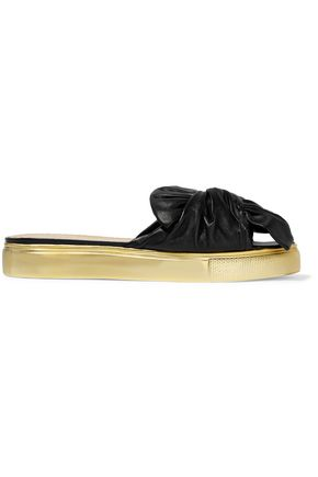 CHARLOTTE OLYMPIA Poolside textured-leather slides