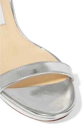 JIMMY CHOO LONDON Claudette mirrored-leather platform sandals
