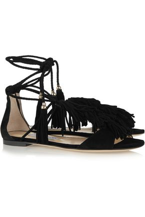 JIMMY CHOO LONDON Mindy fringed suede sandals