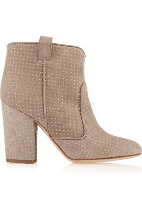 LAURENCE DACADE Pete studded suede ankle boots