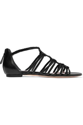 ALEXANDER MCQUEEN Braided leather sandals