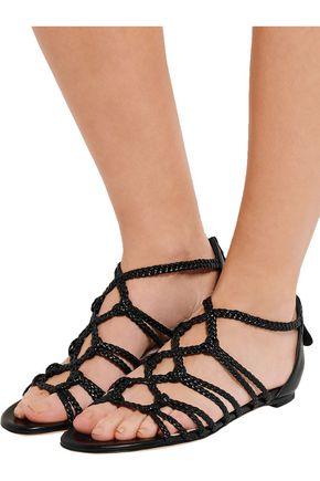 ALEXANDER MCQUEEN Braided leather sandals